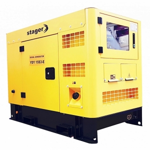 Generator insonorizat Stager YDY15S3 - E , silent 1500rpm, diesel, trifazat#1