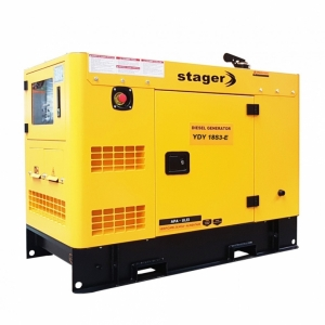 Generator insonorizat Stager YDY18S3 - E, silent 1500rpm, diesel, trifazat#1